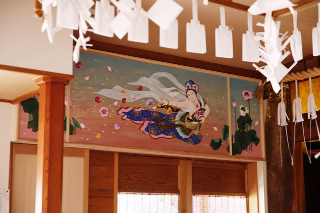 七面堂壁画『飛天双図』