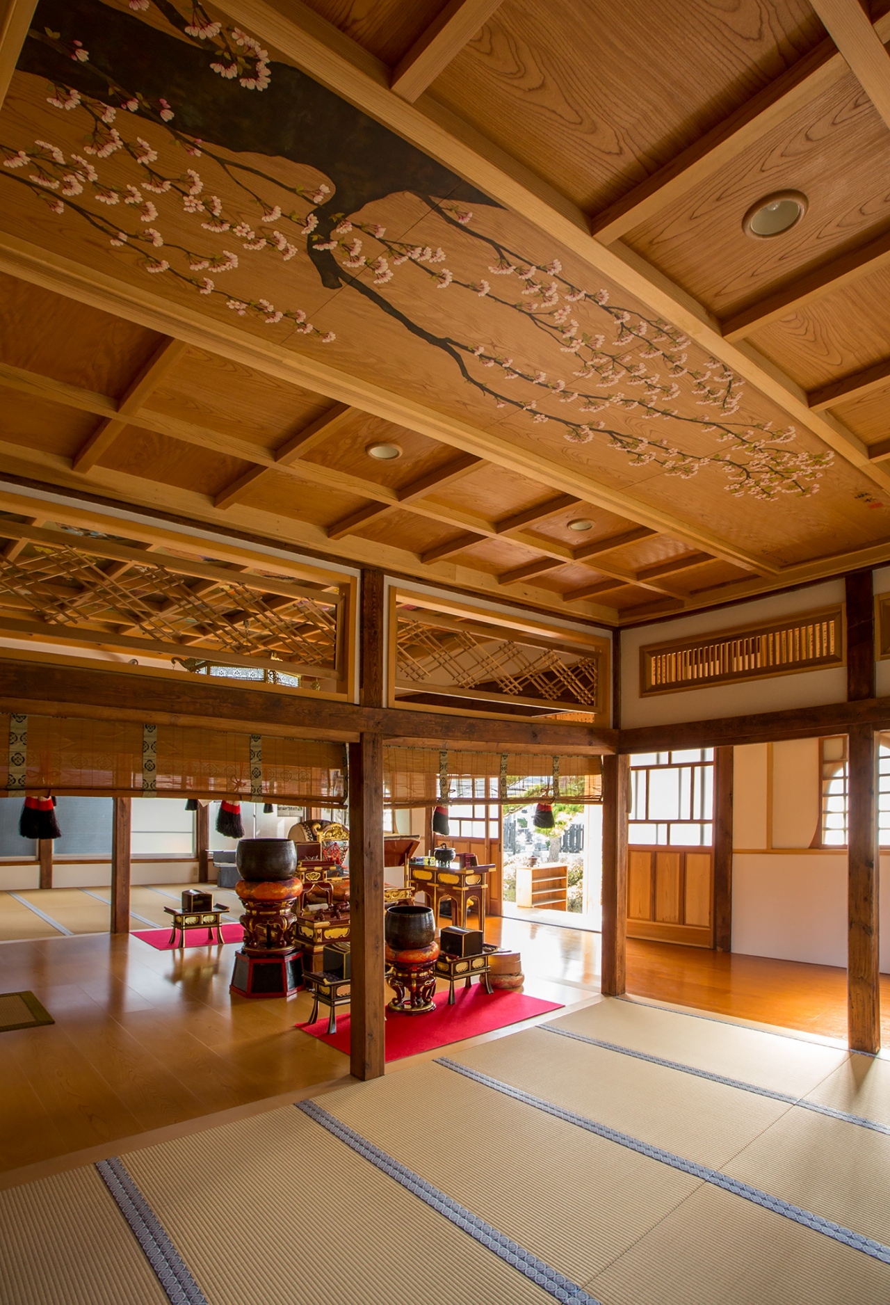 天井画『桜・藤』